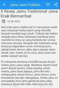 Jamu Jawa Tradisional poster