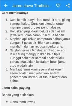 Jamu Jawa Tradisional apk screenshot