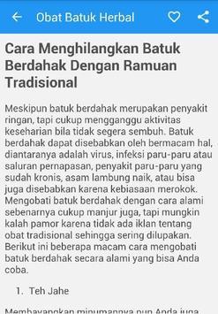 Obat Batuk Herbal Ampuh apk screenshot