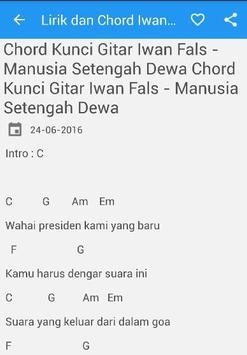Lirik Chord Iwan Fals Mania apk screenshot
