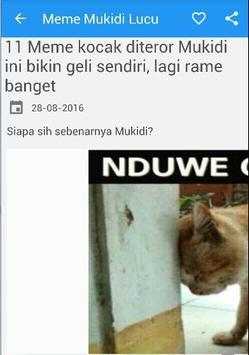 Gambar Meme Mukidi poster