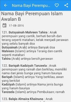 Nama Bayi Perempuan Islami apk screenshot
