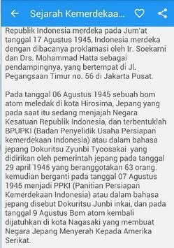 Sejarah Kemerdekaan Indonesia apk screenshot