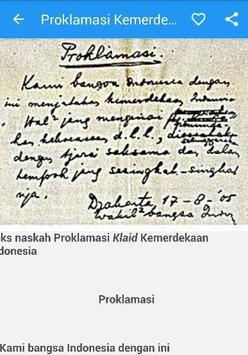 Proklamasi Kemerdekaan RI apk screenshot