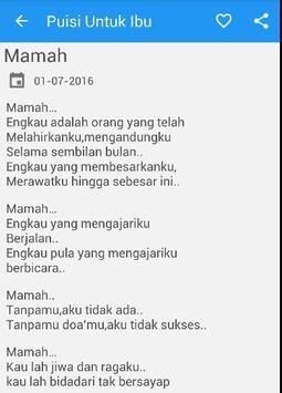 Puisi Ibu Tercinta apk screenshot