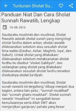 Tuntunan Sholat Sunnah Lengkap poster