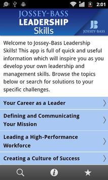 Jossey-Bass Leadership Skills poster
