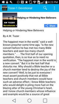 AW Tozer Devotional -Series 1 apk screenshot