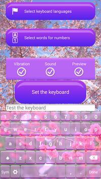 Cherry Blossom Keyboard Theme apk screenshot