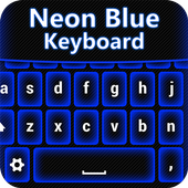 Neon Blue Keyboard Changer icon