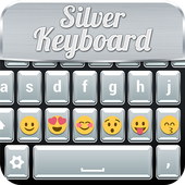 Silver Keyboard with Emojis icon