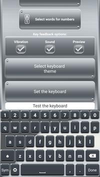 Silver Keyboard with Emojis apk screenshot