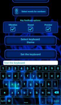 Blue Flame Keyboard apk screenshot