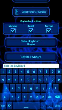 Blue Flame Keyboard poster