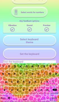 Rainbow Cheetah Keyboard apk screenshot