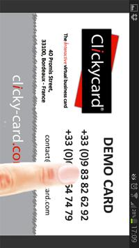 ClickyCard apk screenshot