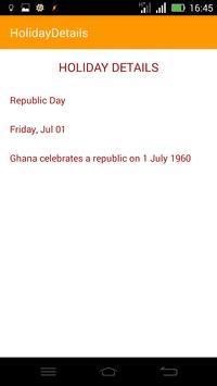 Public Holidays apk screenshot