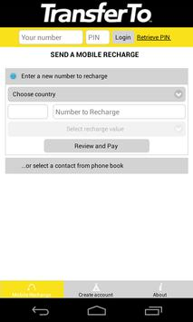 International Mobile Recharge poster