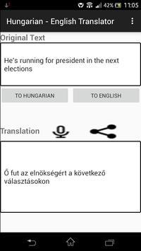 Hungarian - English Translator apk screenshot