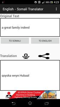 English - Somali Translator apk screenshot