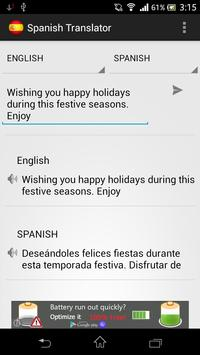 Spanish Translator apk screenshot
