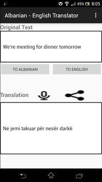 Albanian - English Translator apk screenshot