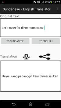 Sundanese - English Translator apk screenshot
