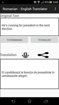 Romanian - English Translator apk screenshot