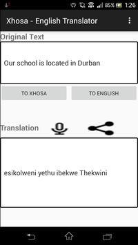 Xhosa - English Translator apk screenshot