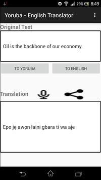 Yoruba - English Translator apk screenshot