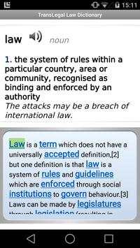 TransLegal's Law Dictionary apk screenshot