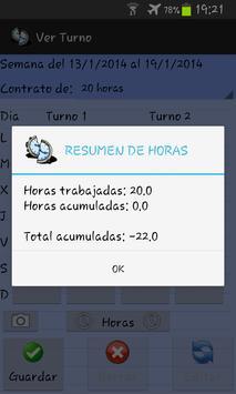 Work hours apk screenshot