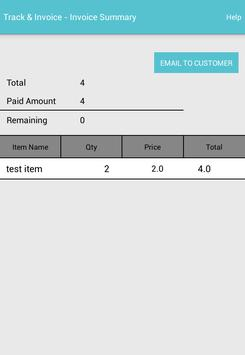 Track And Invoice apk screenshot