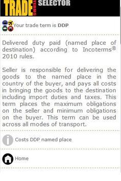 Trade Terms Selector PRO apk screenshot