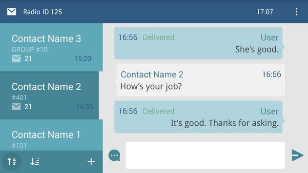 TRBOnet™ Mobile BT Messenger (Unreleased) apk screenshot