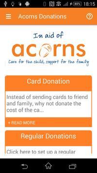 Acorns Donations poster