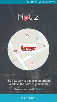 Haringey Council Notiz poster