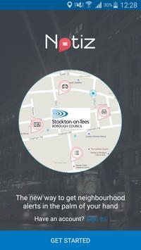 Stockton-on-Tees Notiz poster
