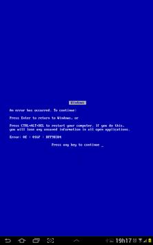 Blue Screen of Death apk screenshot