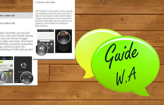 Talk Guide Whatsapp Tips poster