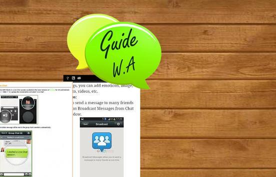 Talk Guide Whatsapp Tips apk screenshot