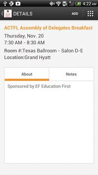 ACTFL 2014 apk screenshot