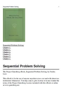 Sequential Problem Solving apk screenshot