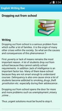 English Writing Bac 2016 apk screenshot