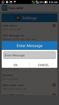 trace caller - name Announcer apk screenshot