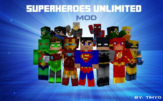 Super Hero Mod For Minecraft poster