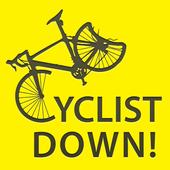 Cyclist Down icon