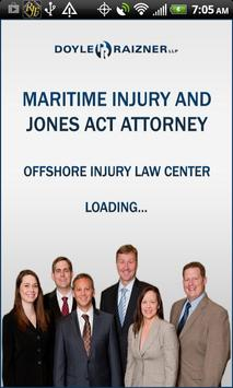 Maritime Injury, Jones Act Law poster