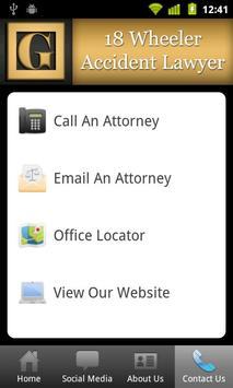 18 Wheeler Accident Lawyer apk screenshot