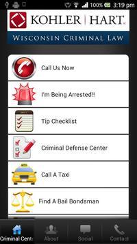 Wisconsin Criminal Defense Law poster